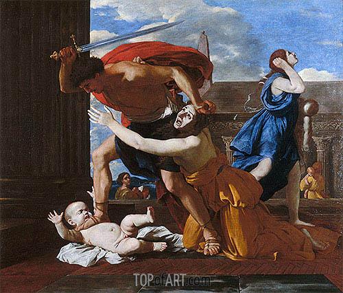 The Massacre of the Innocents, c.1625/26 | Nicolas Poussin | Gemälde Reproduktion