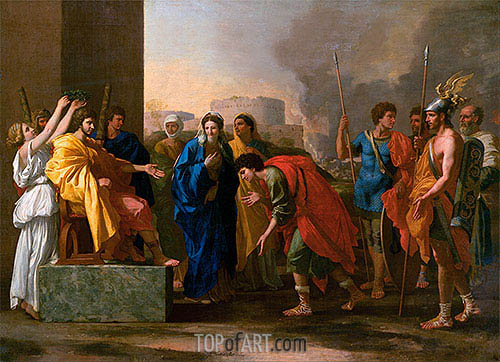 The Continence of Scipio, 1640 | Nicolas Poussin | Painting Reproduction