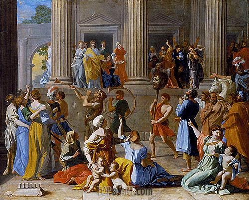 The Triumph of David, c.1628/31 | Nicolas Poussin | Gemälde Reproduktion