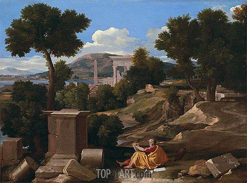 Nicolas Poussin | Landscape with Saint John on Patmos, 1640