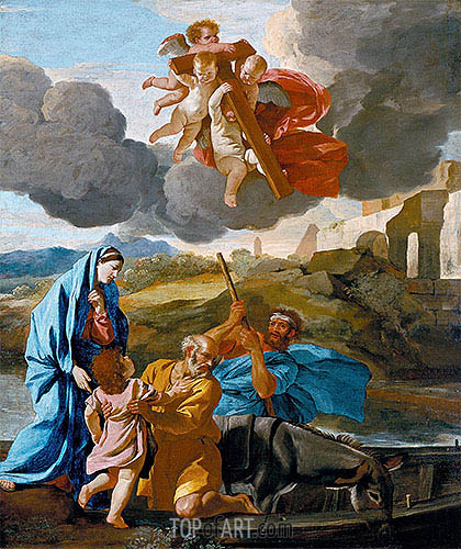 The Return of the Holy Family from Egypt, c.1628/38 | Nicolas Poussin| Painting Reproduction