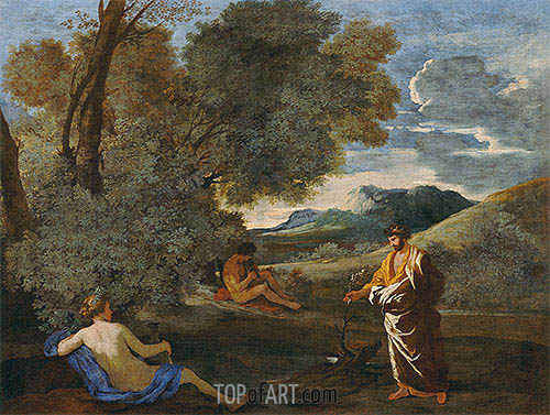 Numa Pompilius and the Nymph Egeria, c.1631/33 | Nicolas Poussin | Painting Reproduction