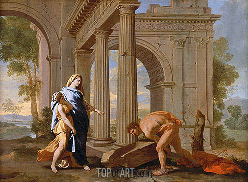 Nicolas Poussin | Theseus Finds the Sword of His Father, c.1638