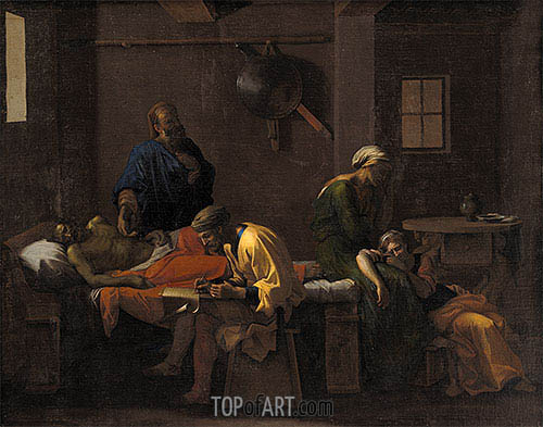 The Testament of Eudamidas, c.1644/48 | Nicolas Poussin | Gemälde Reproduktion