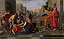 The Death of Sapphira | Nicolas Poussin