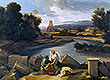 Roman Landscape with Saint Matthew and the Angel | Nicolas Poussin