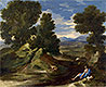 Landscape with a Man Scooping Water from a Stream | Nicolas Poussin