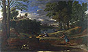 Landscape with a Man killed by a Snake | Nicolas Poussin