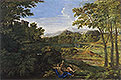Landscape with Two Nymphs and a Snake | Nicolas Poussin