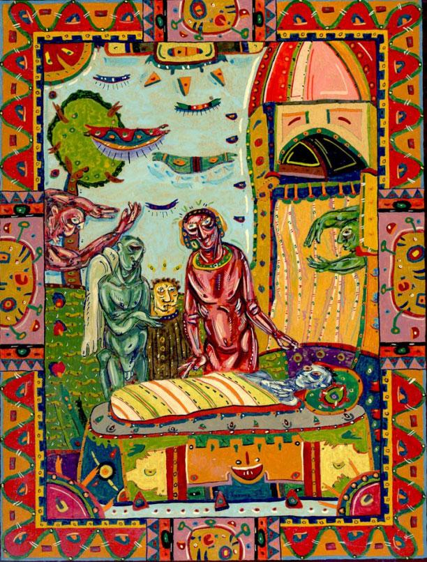 Ohne Titel III (Anbetung), undated | Nikolay Kermov | Gemälde Reproduktion