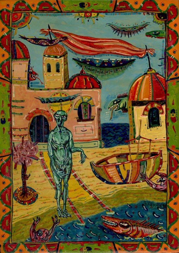 Ohne Titel V (Erwartung), undated | Nikolay Kermov | Gemälde Reproduktion
