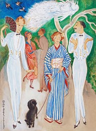 Peacocks, 1918 by Nils von Dardel | Painting Reproduction