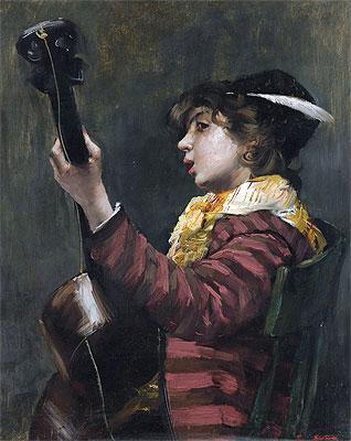 Norbert Goeneutte | The Guitarist,
