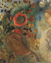 Two Young Girls among the Flowers, 1912 by Odilon Redon | Painting Reproduction