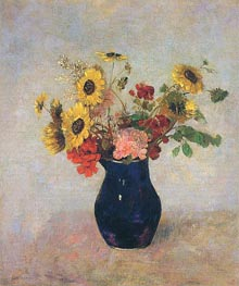 Vase of Flowers | Odilon Redon | Painting Reproduction