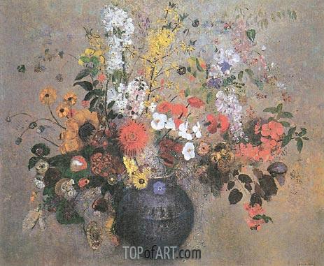 Odilon Redon | Flowers, 1909