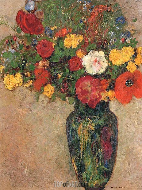 Vase of Flowers, c.1910 | Odilon Redon | Painting Reproduction
