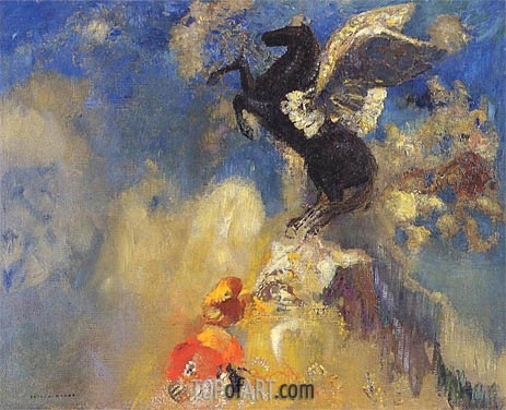 Odilon Redon | The Black Pegasus, c.1909/10