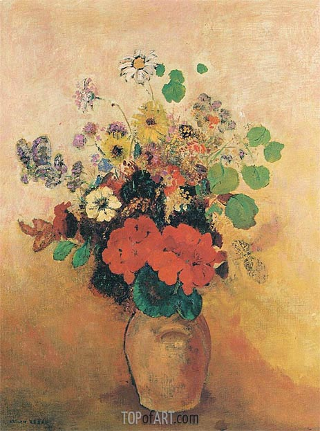 Vase of Flowers, c.1908/10 | Odilon Redon | Gemälde Reproduktion
