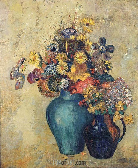 Flowers, c.1905 | Odilon Redon | Painting Reproduction