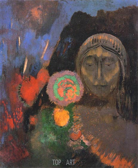 Still Life: the Dream, c.1904 | Odilon Redon | Gemälde Reproduktion
