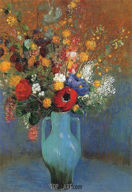 Odilon Redon | Bouquet of Wild Flowers, c.1900
