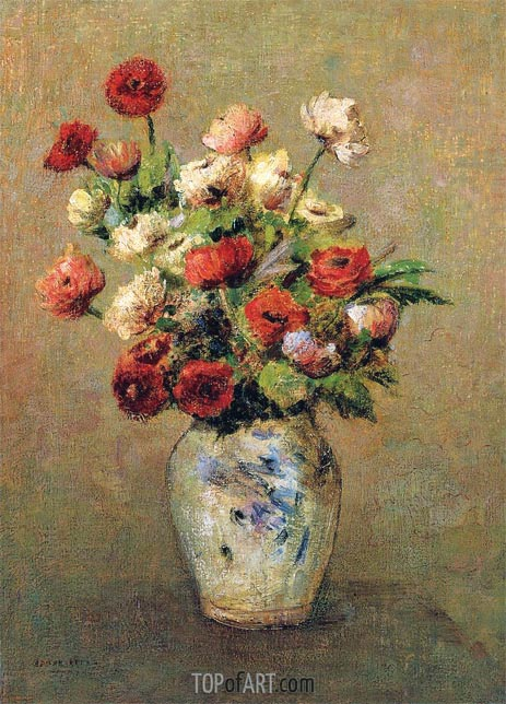 Odilon Redon | Bouquet of Flowers, c.1900