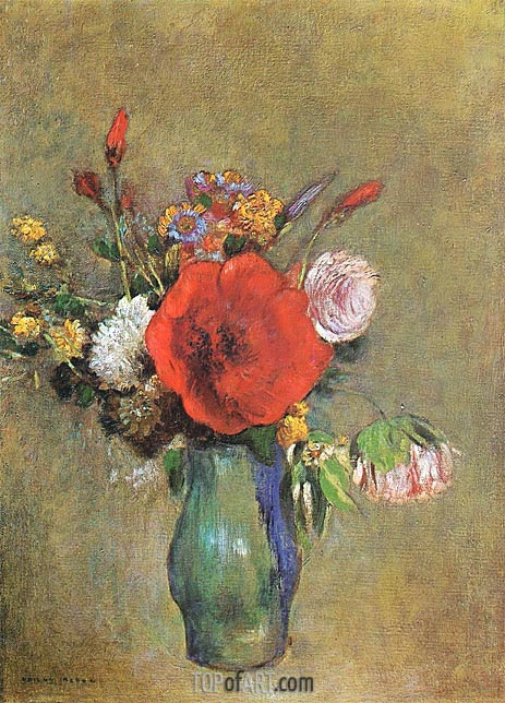 Vase of Flowers, Undated | Odilon Redon | Gemälde Reproduktion