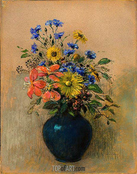 Wildflowers, c.1905 | Odilon Redon | Gemälde Reproduktion