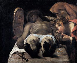 Lamentation over the Dead Christ (The Pieta), c.1615 von Orazio Borgianni | Gemälde-Reproduktion