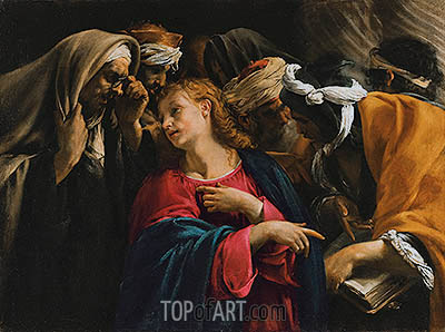 Christ Amongst the Doctors, undated | Orazio Borgianni | Gemälde Reproduktion
