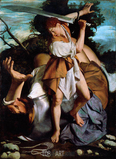 David and Goliath, undated | Orazio Gentileschi | Painting Reproduction