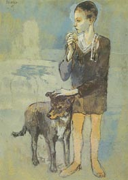 Boy with a Dog, 1905 by Picasso | Painting Reproduction
