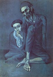 Old Jew with the Boy, 1903 by Picasso | Painting Reproduction