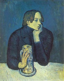 Portrait of Poet Sabartes, 1902 by Picasso | Painting Reproduction