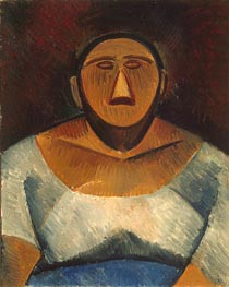 Farm Woman (Half-Length), 1908 von Picasso | Gemälde-Reproduktion