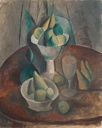 Fruit in a Vase, 1909 by Picasso | Painting Reproduction
