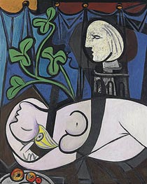 Nude, Green Leaves and Bust, 1932 by Picasso | Painting Reproduction
