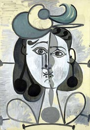 Portrait of Francoise Gilot, c.1947/48 by Picasso | Painting Reproduction