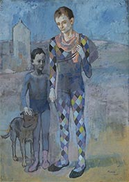 Two Acrobats with a Dog, 1905 by Picasso | Painting Reproduction
