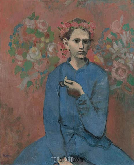 Boy with a Pipe (Garcon a la Pipe), 1905 | Picasso| Painting Reproduction