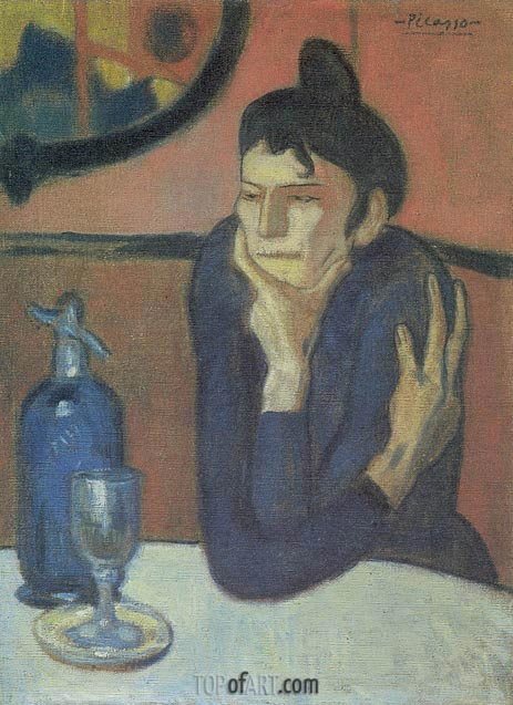 The Absinthe Drinker, 1901 | Picasso | Gemälde Reproduktion