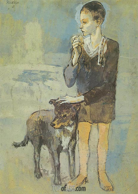 Boy with a Dog, 1905 | Picasso | Gemälde Reproduktion