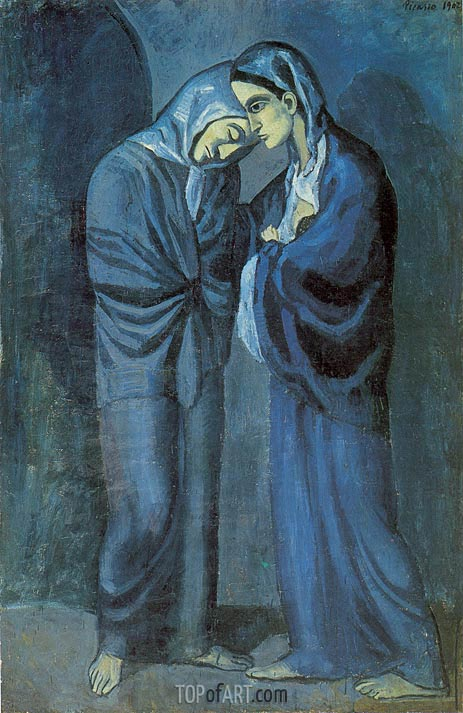 Two Sisters (The Meeting), 1902 | Picasso | Painting Reproduction