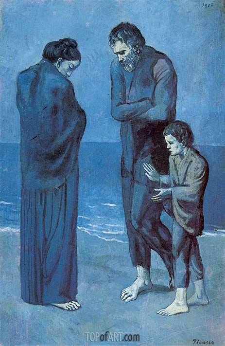 The Tragedy, 1903 | Picasso | Painting Reproduction
