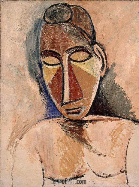 Nude (Bust), 1907 | Picasso | Painting Reproduction