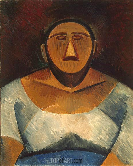 Farm Woman (Half-Length), 1908 | Picasso | Painting Reproduction