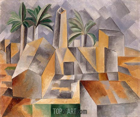 Brick Factory at Tortosa, 1909 | Picasso | Painting Reproduction