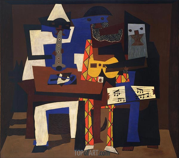 Three Musicians, 1921 | Picasso | Painting Reproduction