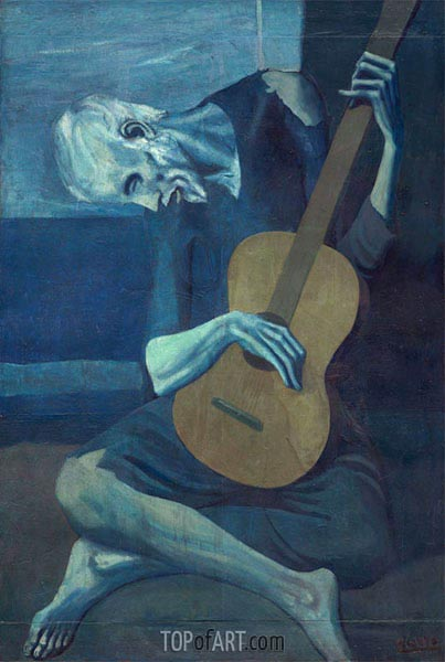 The Old Guitarist, 1903 | Picasso | Painting Reproduction